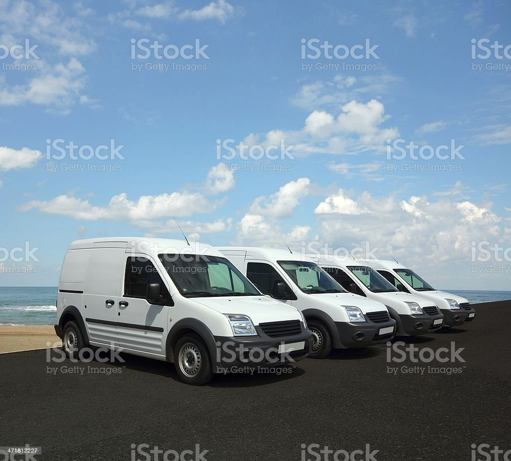 Car fleet stock photo