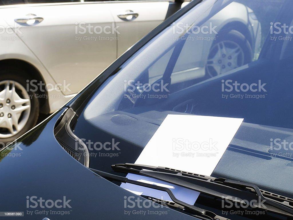 Car flyer stock photo