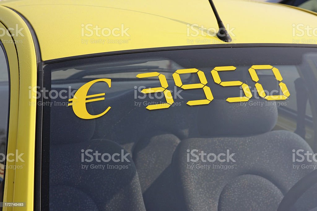 Car for sale stock photo
