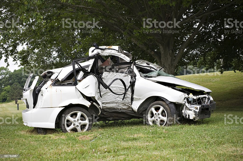 Car from Fatal Crash stock photo