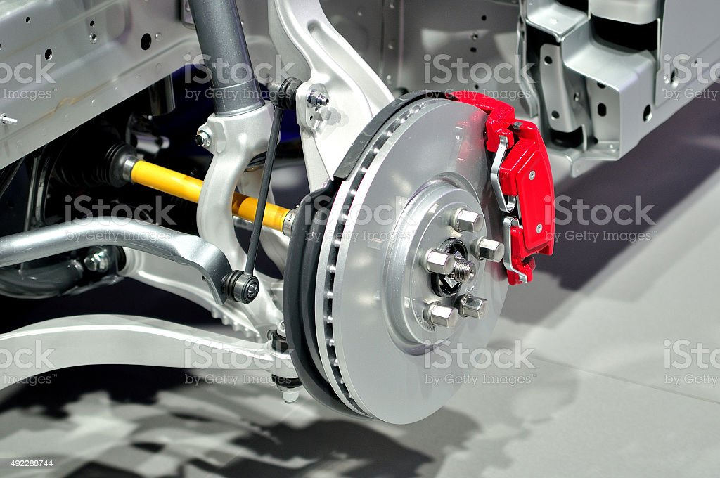Car front suspension. stock photo