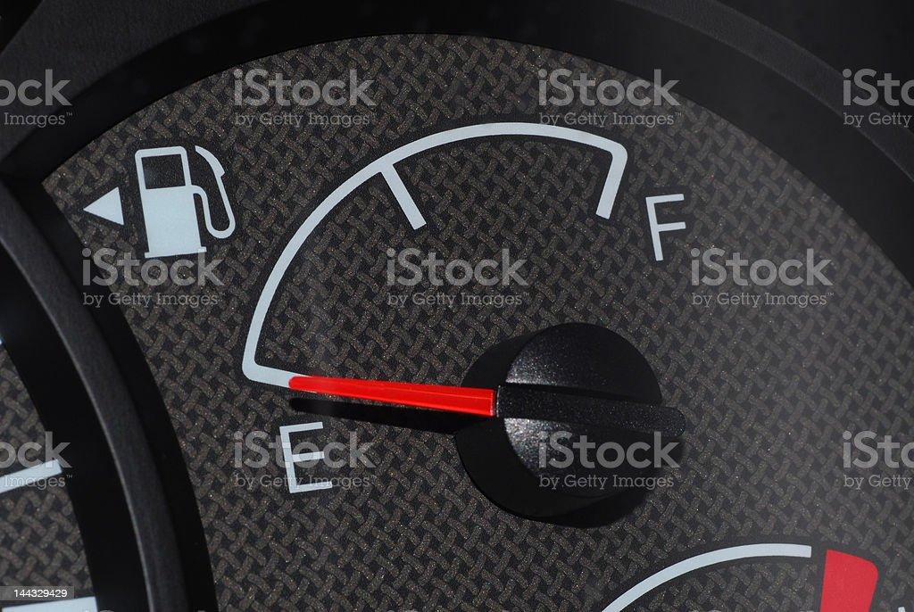 Car fuel gauge royalty-free stock photo