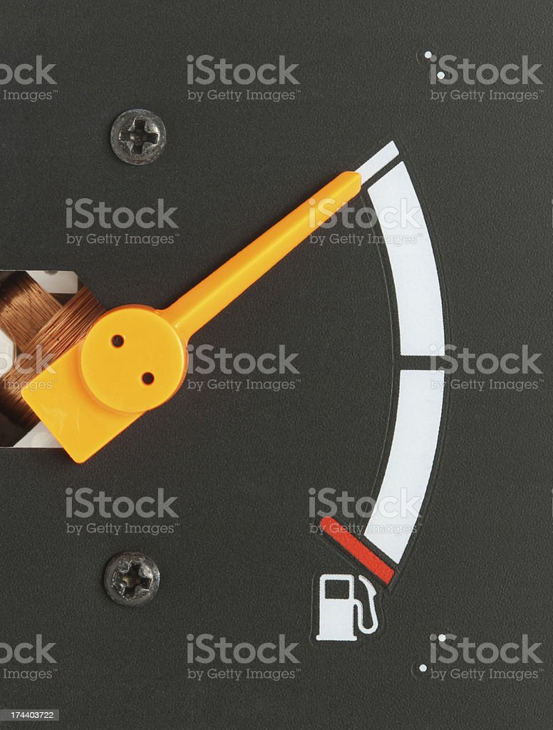 Car fuel gauge royalty-free stock photo