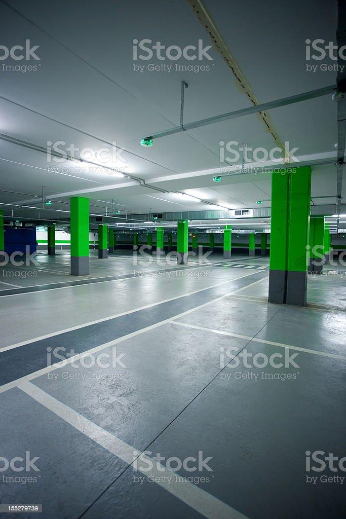Car garage stock photo