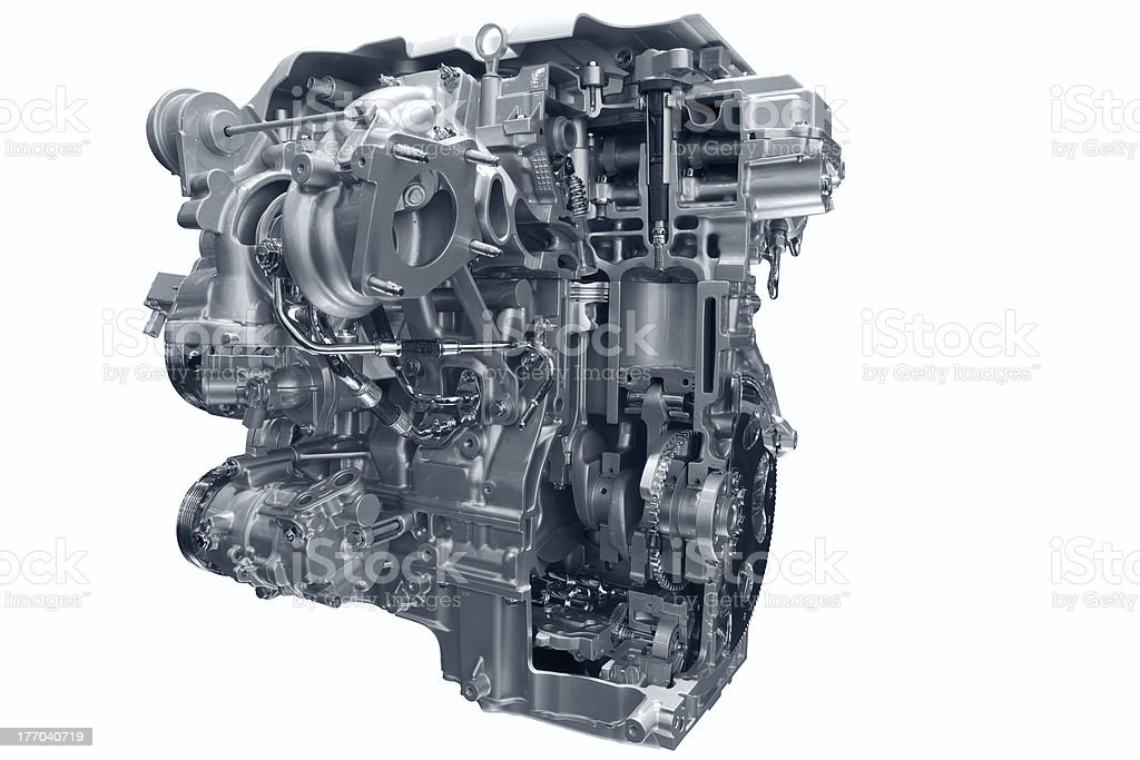 Car gas engine. stock photo