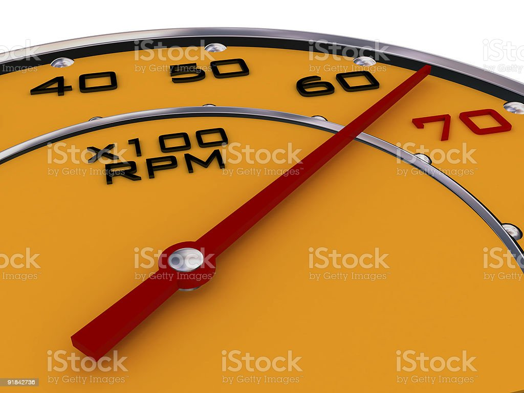 Car gauges yellow carbon and chrome on white royalty-free stock photo