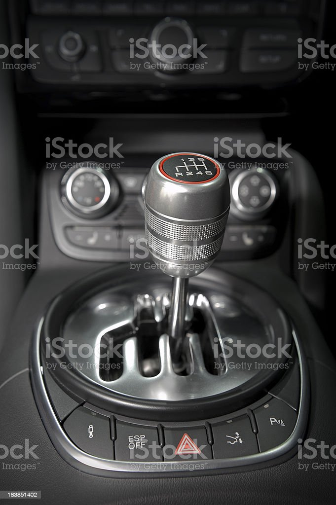 Car Gear Shift royalty-free stock photo