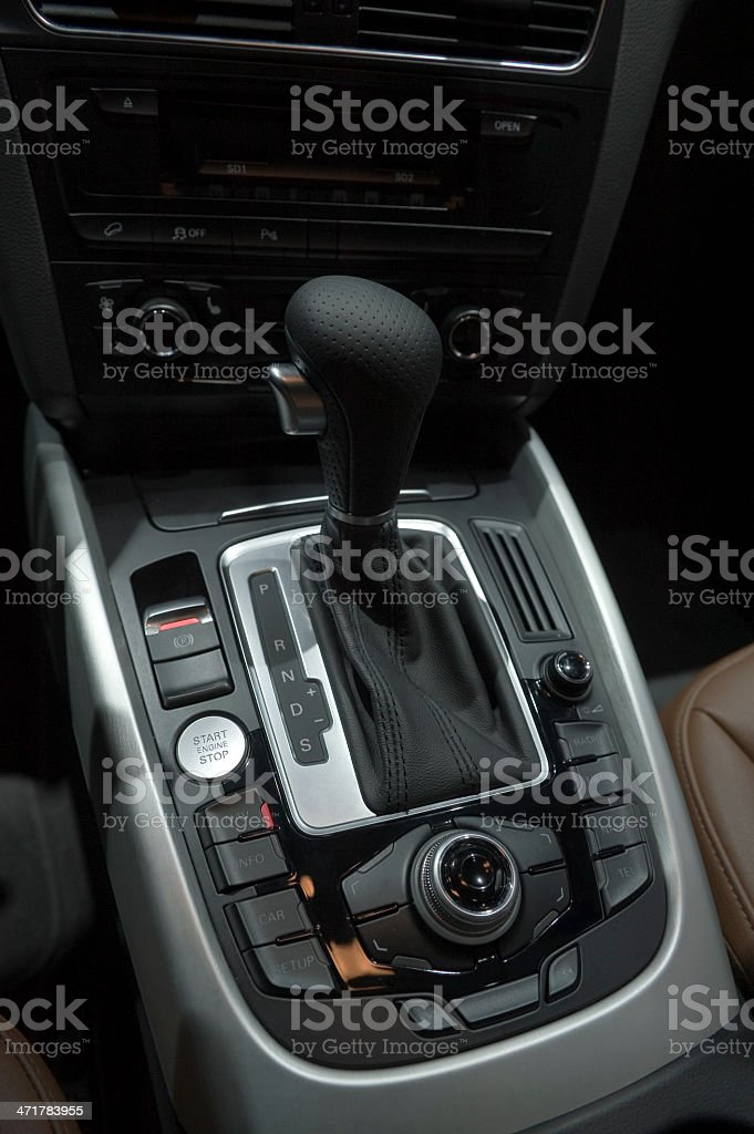 Car Gear Shift royalty-free stock photo