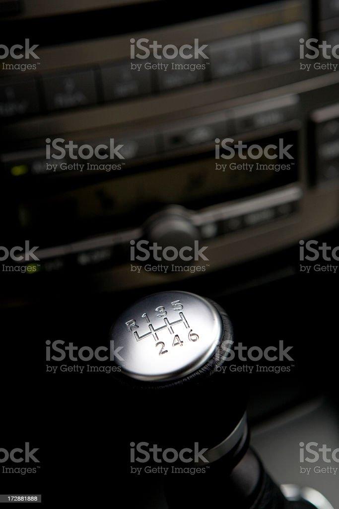 car gearshift royalty-free stock photo