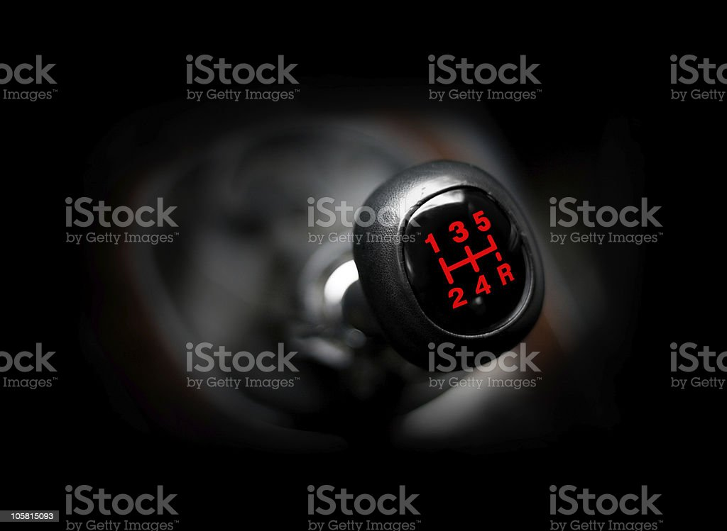 Car gearstick stock photo