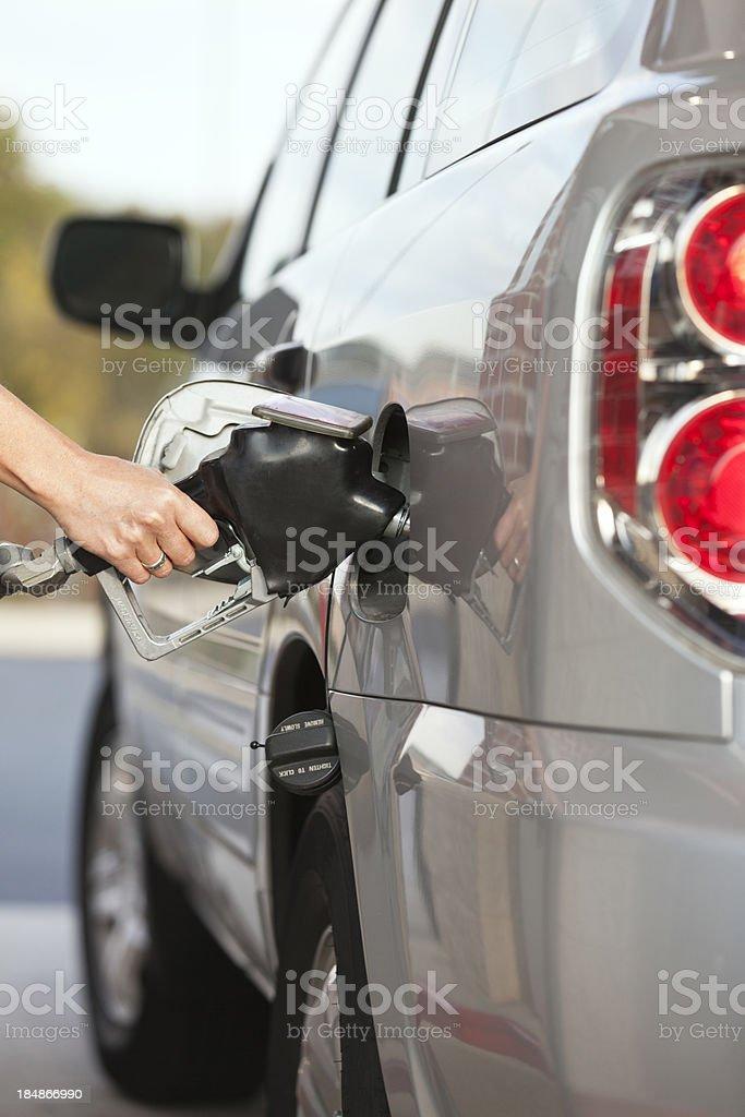 Car Getting Gas stock photo