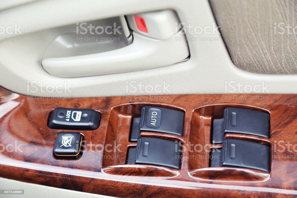 car glass button control stock photo