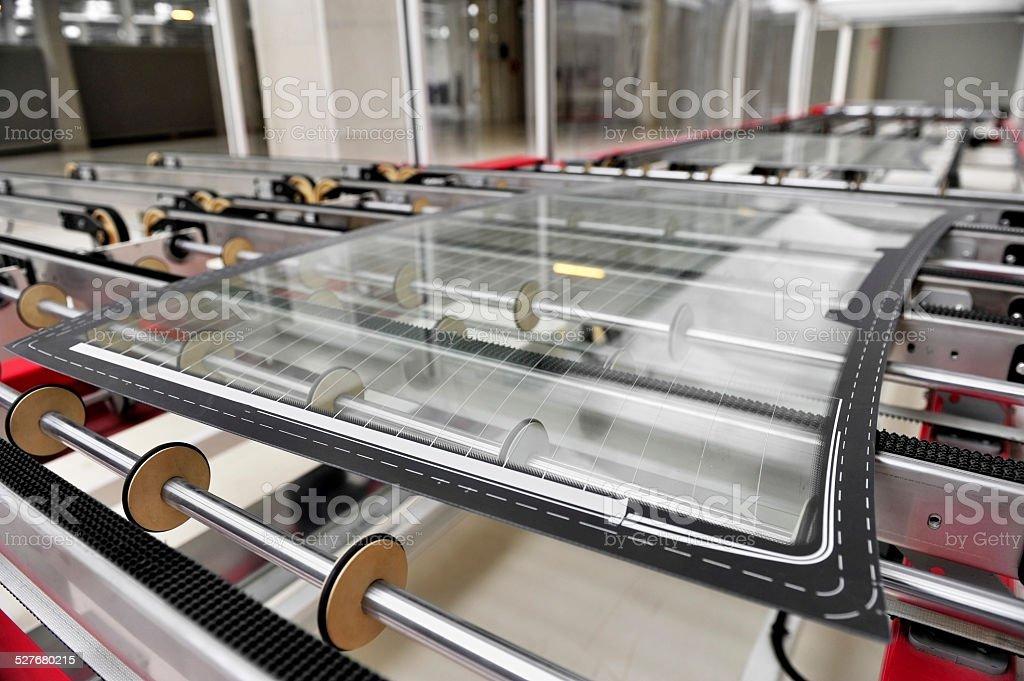 Car glass factory stock photo