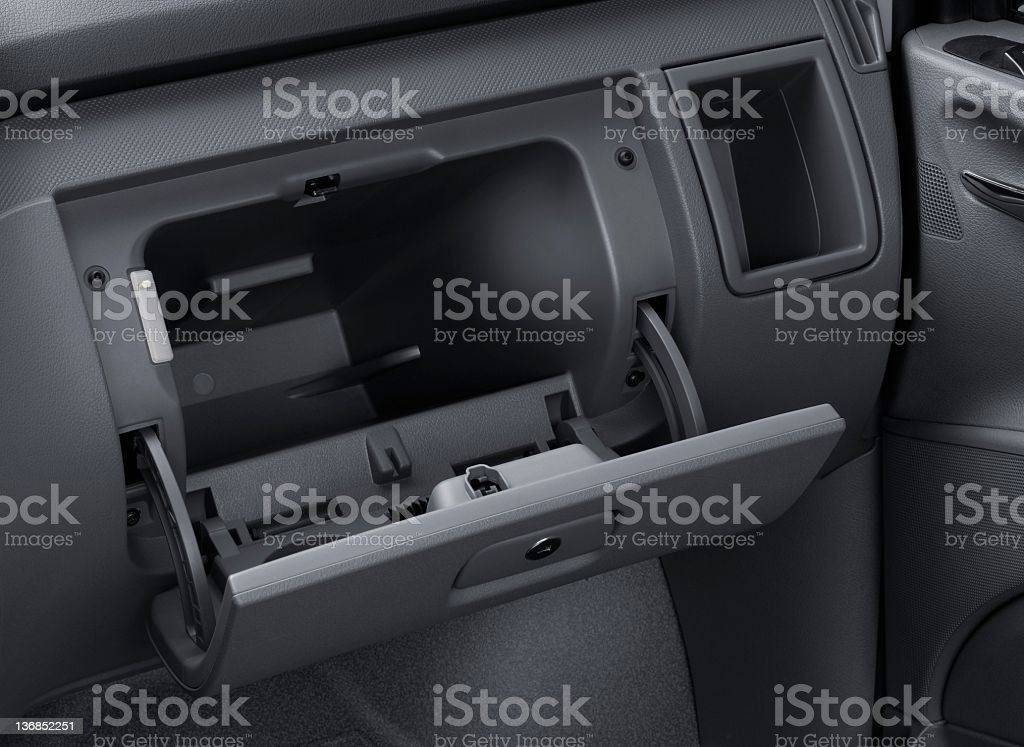 Car Glove box stock photo