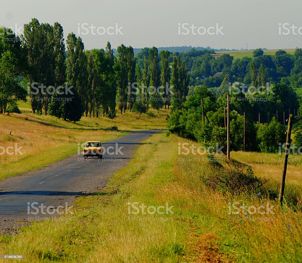 car going stock photo