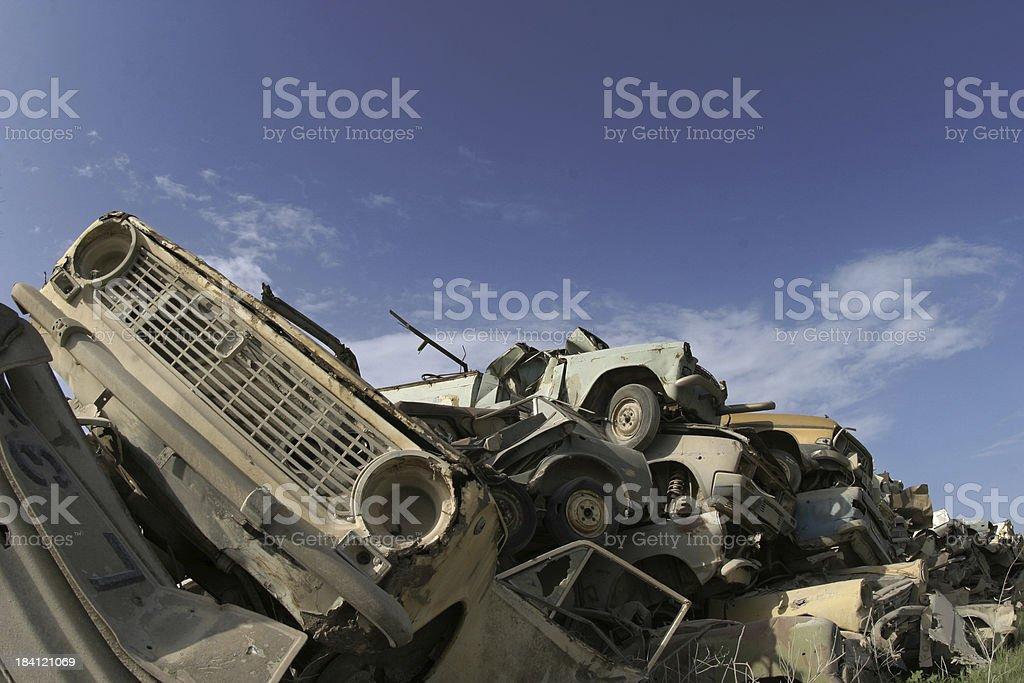 Car Graveyard royalty-free stock photo