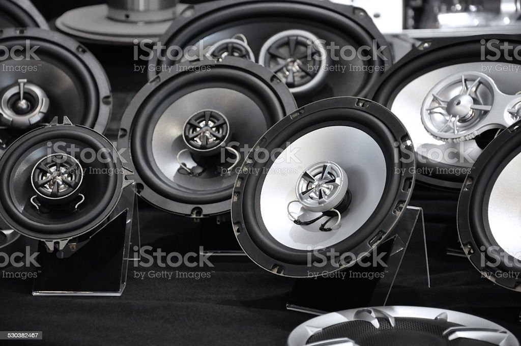 car hifi stock photo