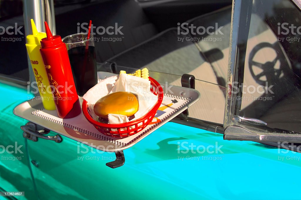 car hop tray royalty-free stock photo