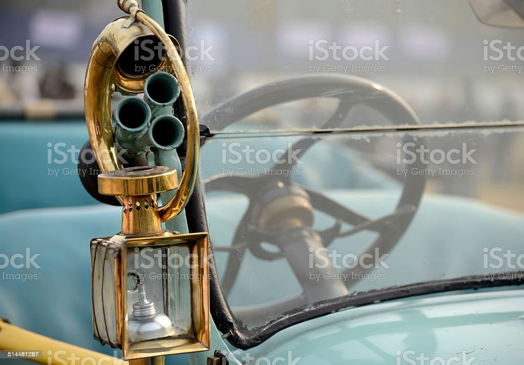 Car Horn with Lamp royalty-free stock photo