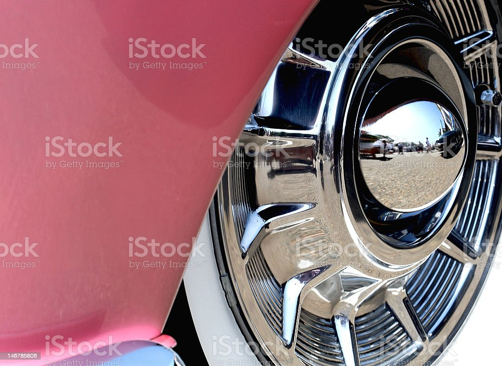 Car hub cap royalty-free stock photo