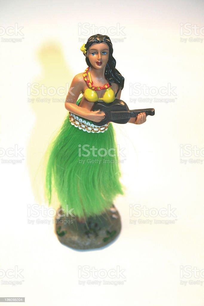 Car Hula Girl stock photo