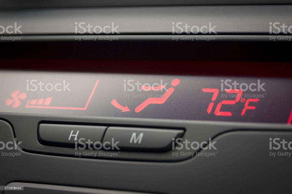 Car HVAC Display (Farenheit) stock photo