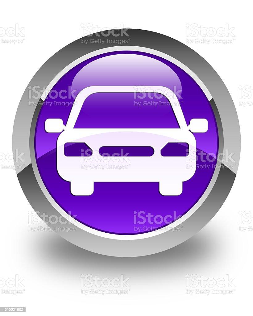 Car icon glossy purple round button stock photo