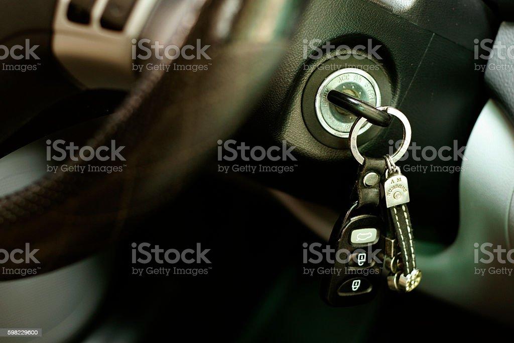 Car ignition key stock photo