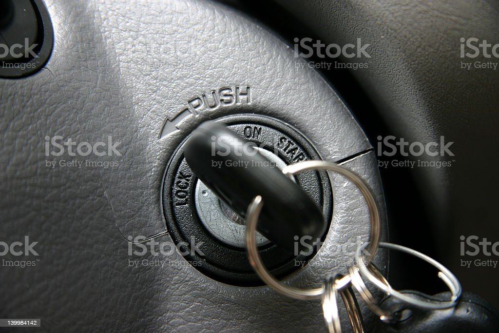Car ignition stock photo