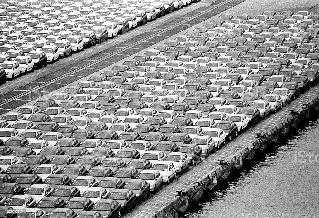 Car Import Yard 01 stock photo