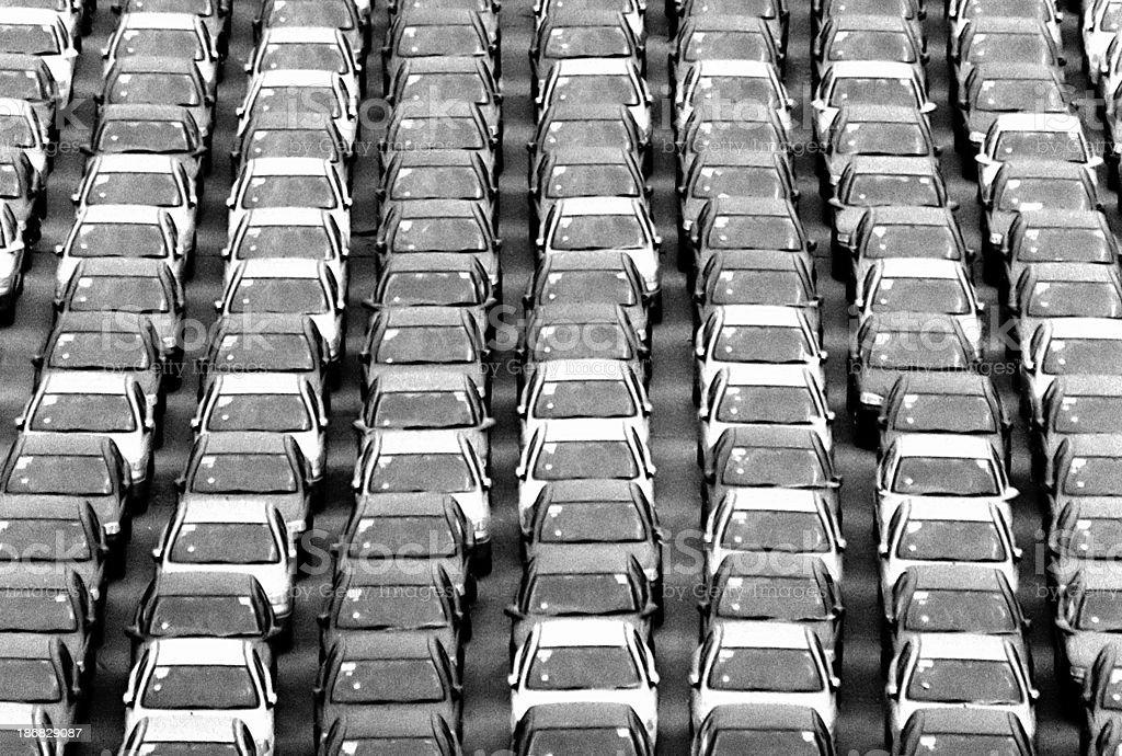 Car Import Yard 02 royalty-free stock photo