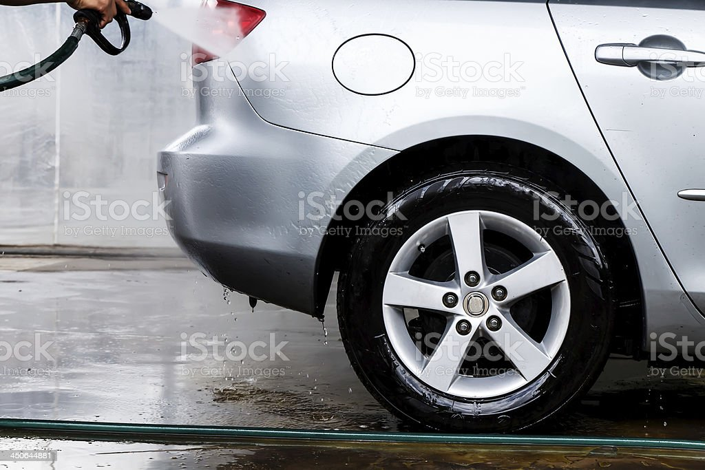 Car in a carwash royalty-free stock photo