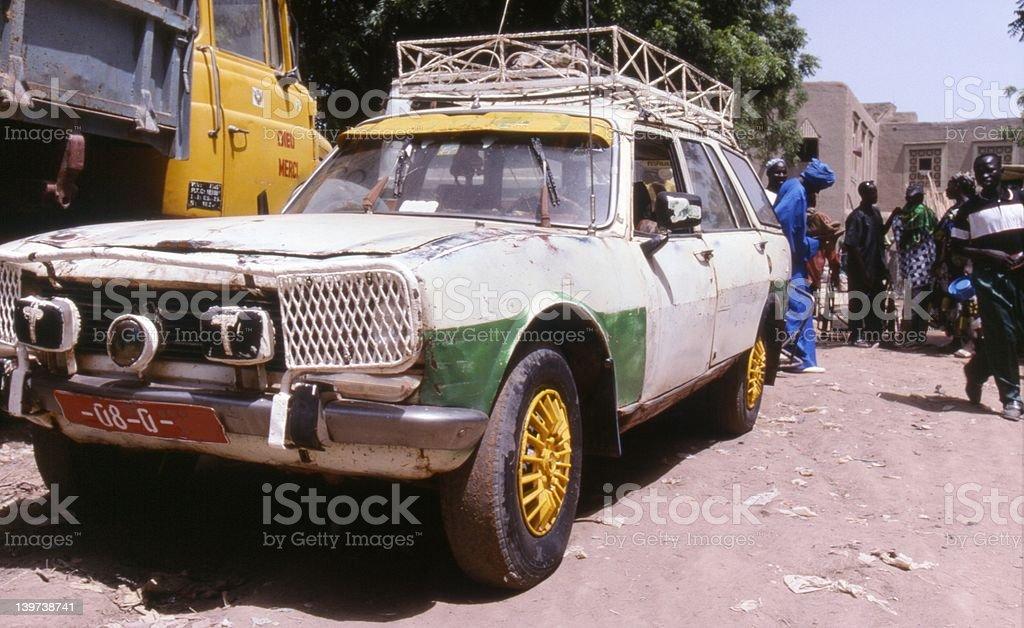 Car in Djenne, Mali stock photo
