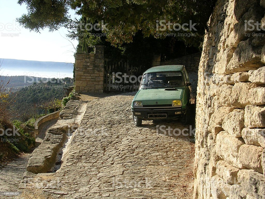 Car in Gordes stock photo