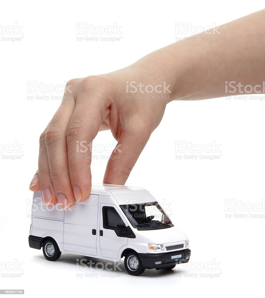 Car in hand royalty-free stock photo