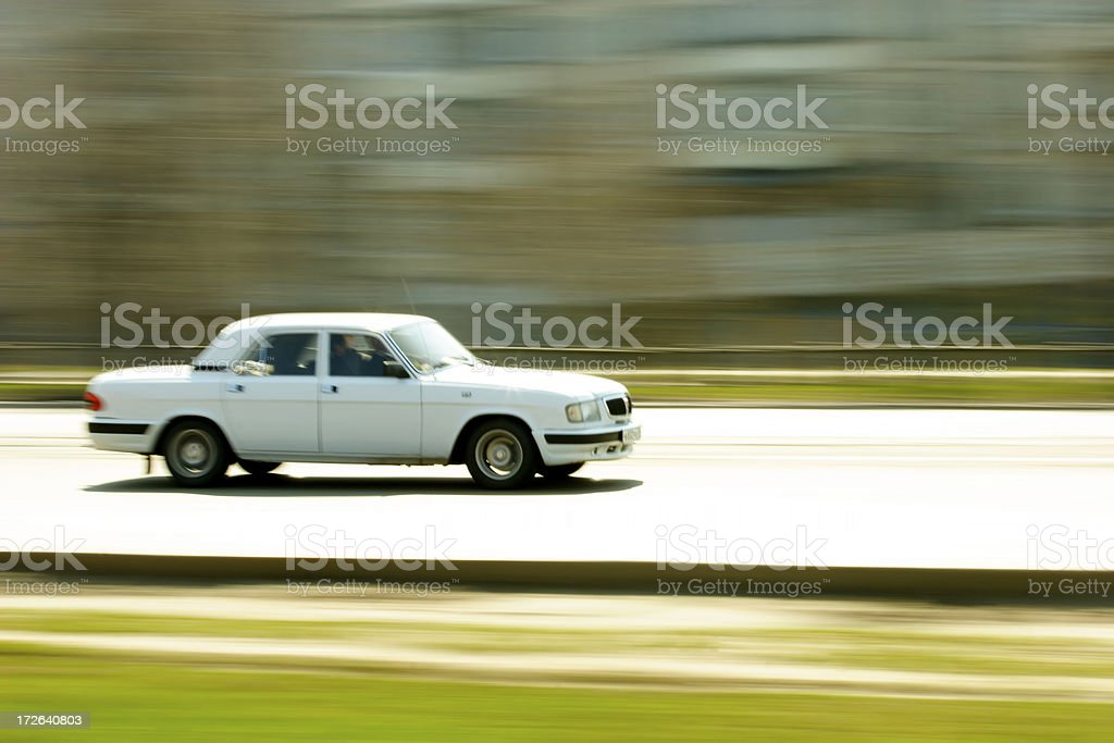 Car in motion royalty-free stock photo