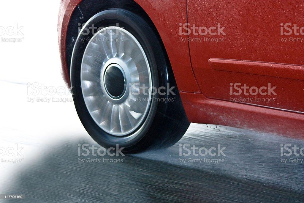 Car in motion / samochód w ruchu royalty-free stock photo