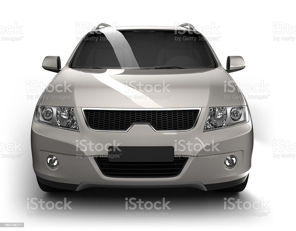 SUV Car in studio - isolated / clipping path stock photo
