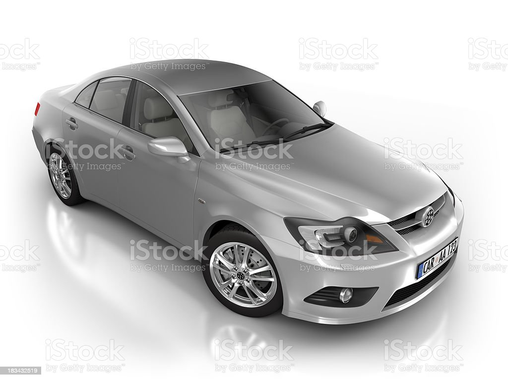 Car in studio - isolated on white royalty-free stock photo