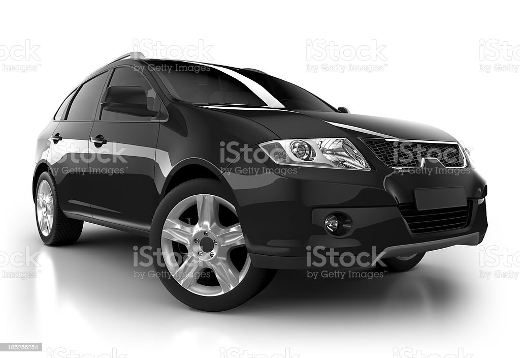 SUV Car in studio - isolated with clipping path stock photo