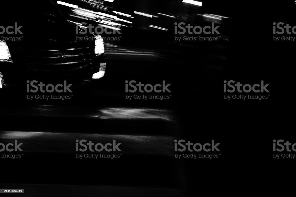 Car in the night stock photo