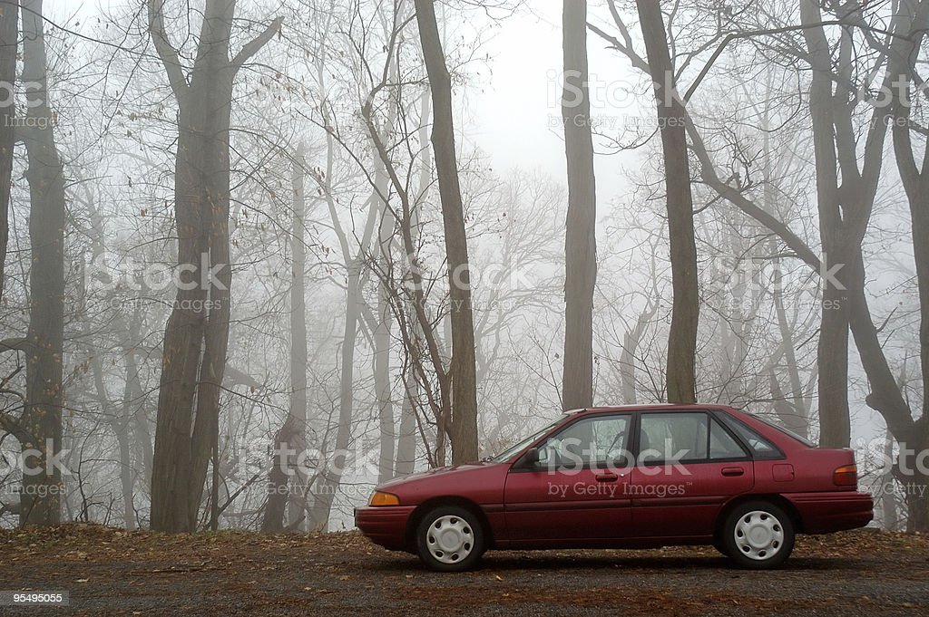 Car in Wlderness royalty-free stock photo