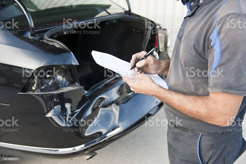Car inspections stock photo