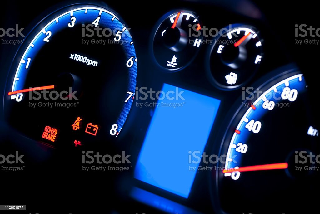Car instrument panel royalty-free stock photo
