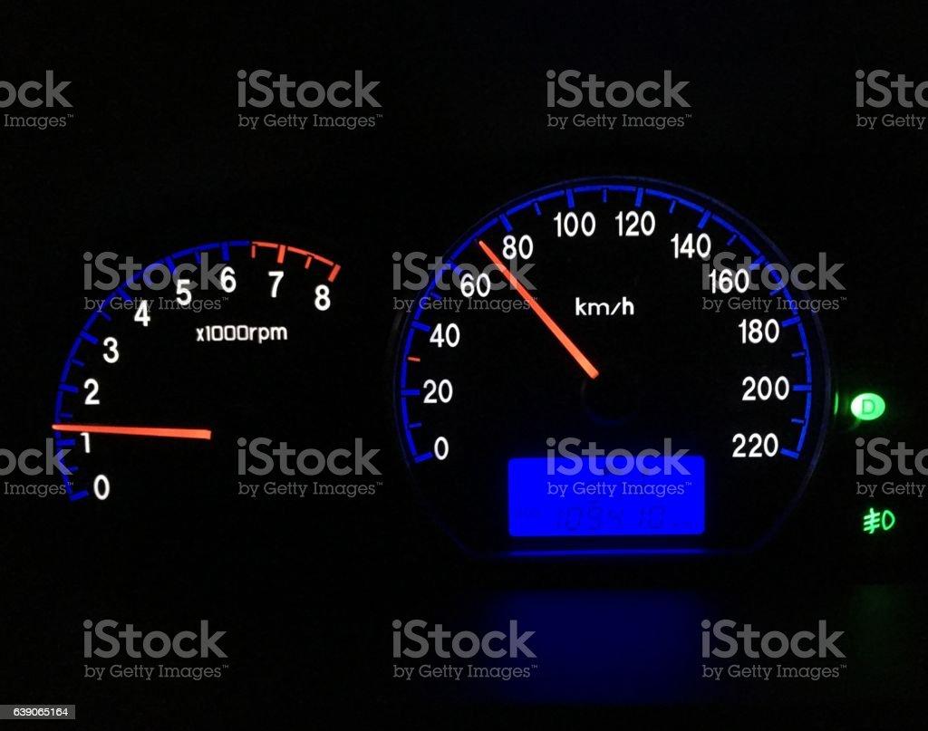 Car instrument panel stock photo