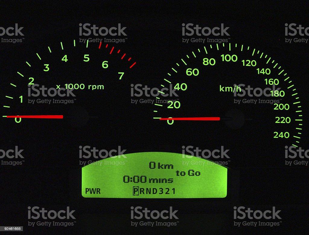 Car instrument panel royalty-free stock photo
