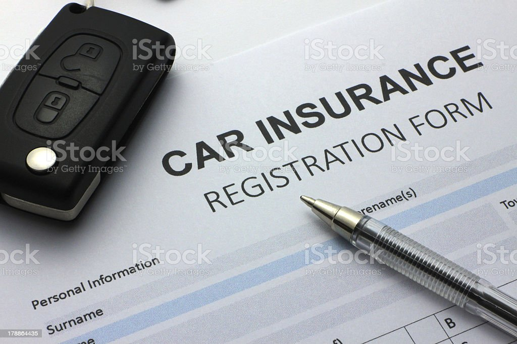 Car Insurance forms stock photo