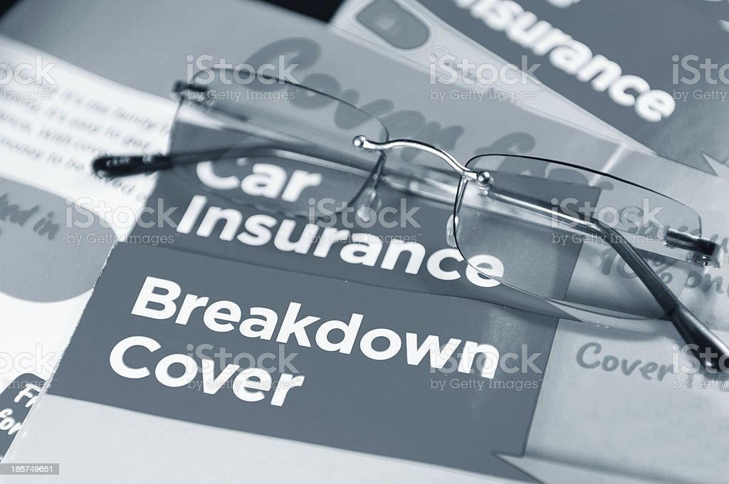 Car insurance royalty-free stock photo