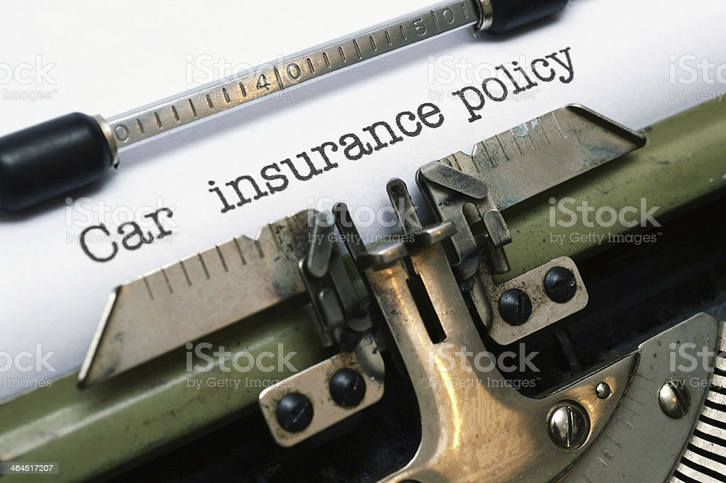 Car insurance policy royalty-free stock photo