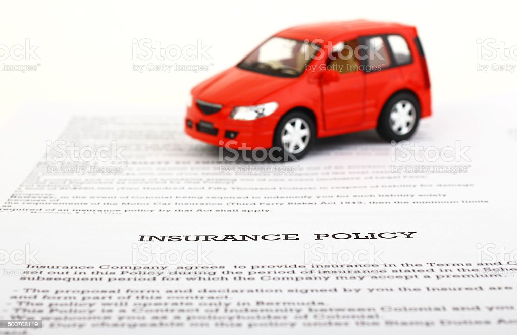 Car Insurance Policy stock photo